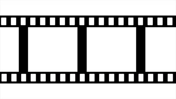 Filmstreifen Schwarz-Weiß-Videomaterial