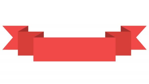 Banner animált piros szalag
