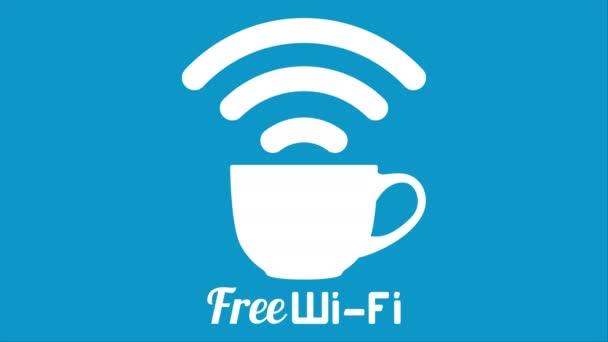 Internet Café Kaffee gratis Wifi Tasse Zeichen