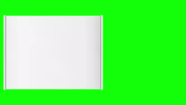 Vízszintes roll üres banner-zöld