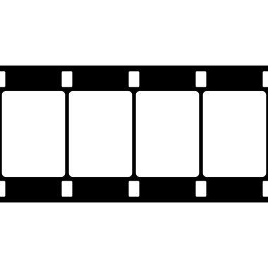Vector 16 mm Film Strip Illustration on White