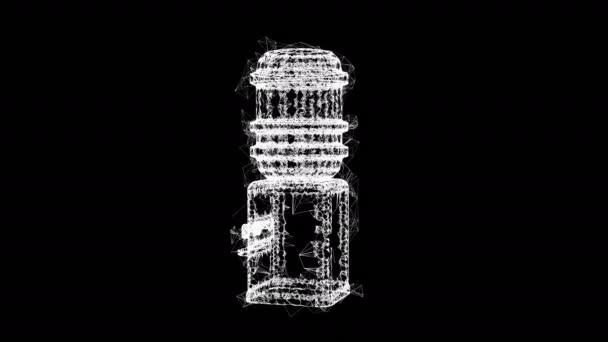 Vízhűtő teli üveggel. A frissítő iroda koncepciója