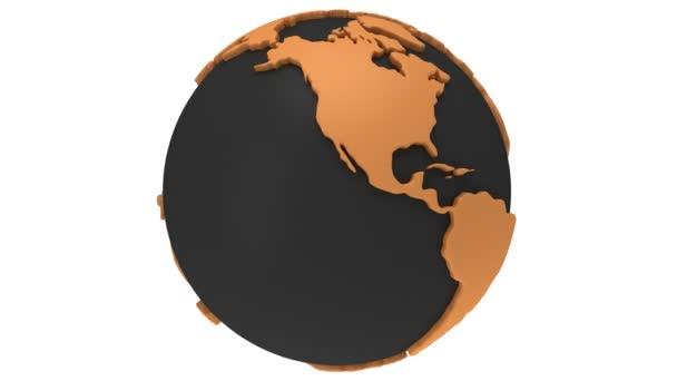 země planety zeměkoule se otáčí