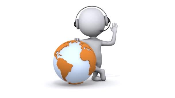 animace 3d bílí lidé globální správce