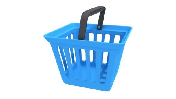 Shopping basket rotate