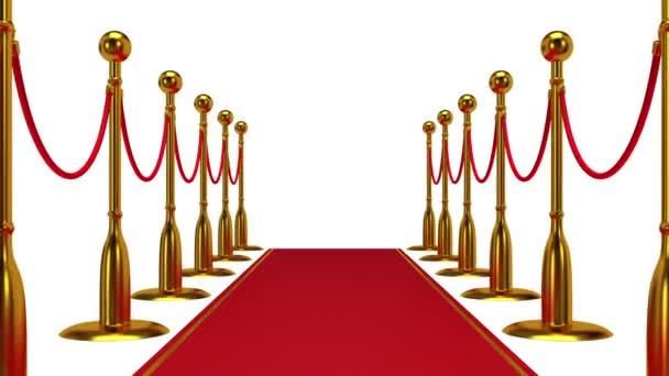 Animation der goldenen Seil Barriere mit Roter Teppich