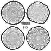 vektor fa gyűrűk háttér, és látta, vágott a fa törzse