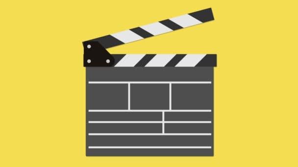 Kino šindel. 2D animace záběry s alfa luma matný
