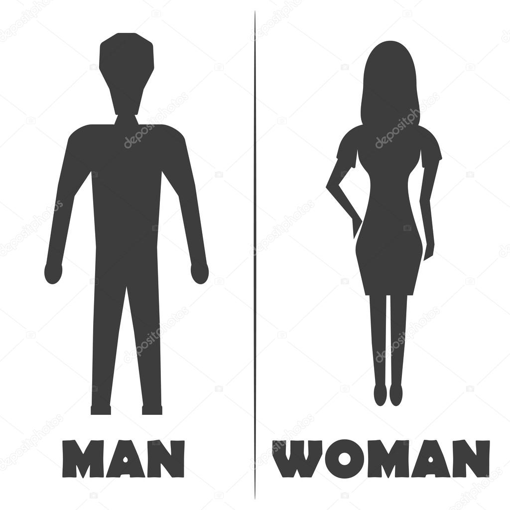 Male And Female Restroom Symbol Icon Vector Illustration Stock