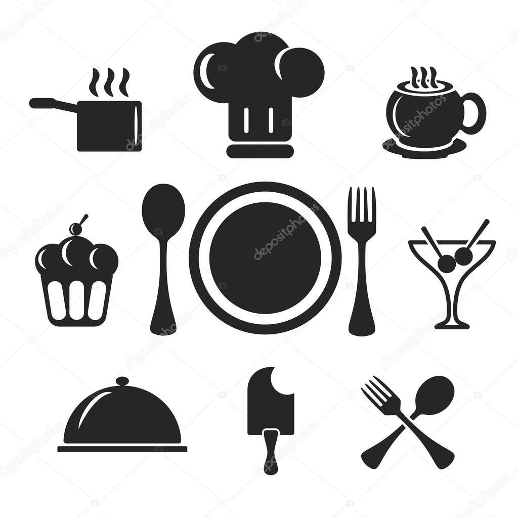 Konyha s a szak cs webes s mobil ikonok vektor stock for Utensilios para chef