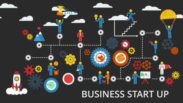 Kezdő vállalkozásokat. Animációs séma emberek