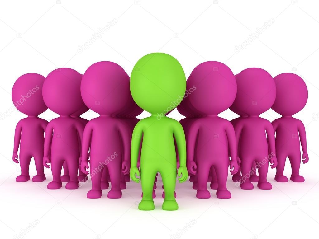 Figure Di Persone Stilizzate.Gruppo Di Persone Stilizzate Stare Sul Bianco Foto Stock C Newb1