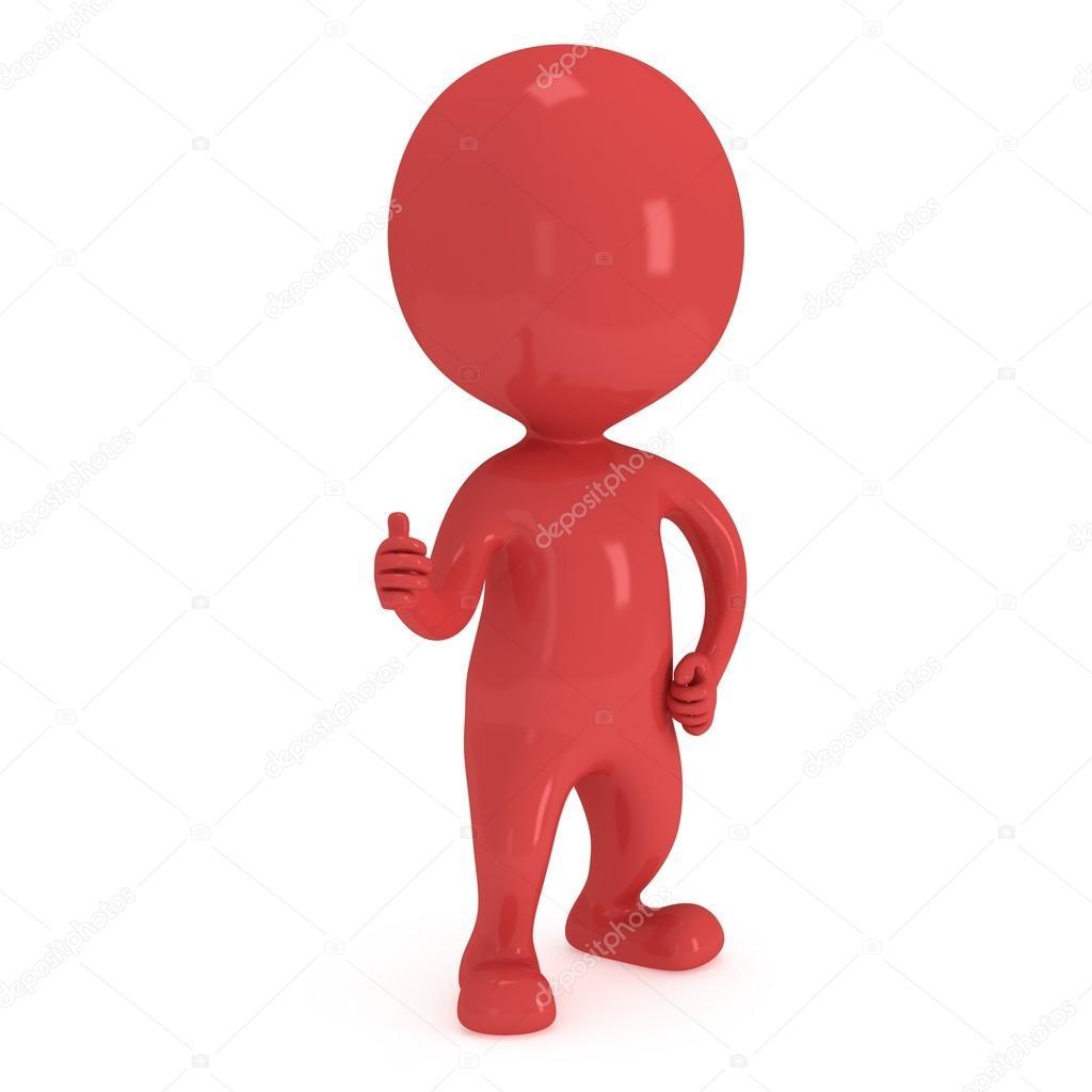 Человечек красный картинки