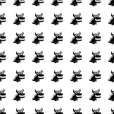 Dragon seamless pattern. Vector
