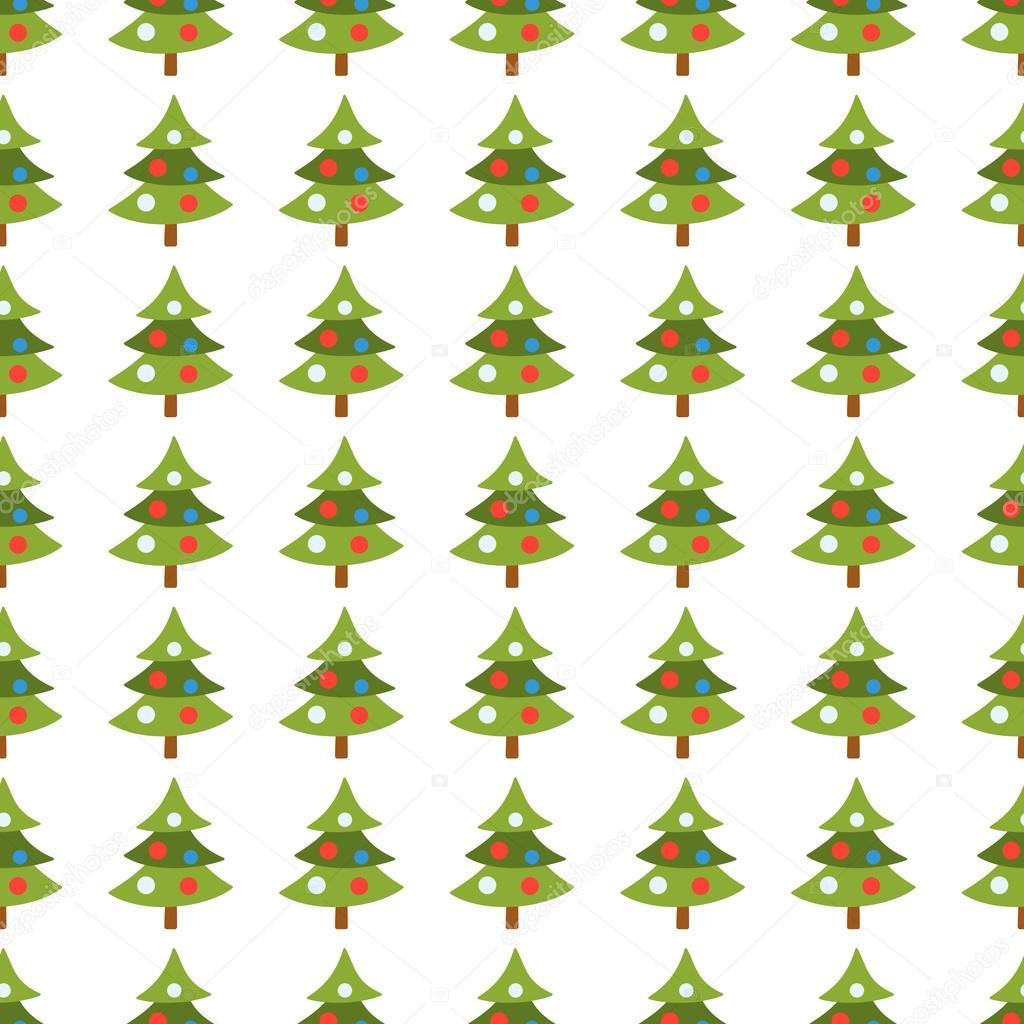 Christmas trees seamless pattern. Vector — Vector de stock © newb1 ...