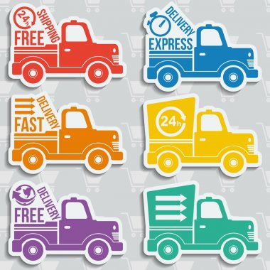 Free delivery concept icons set