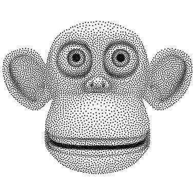 Dotwork Halftone Vector Monkey