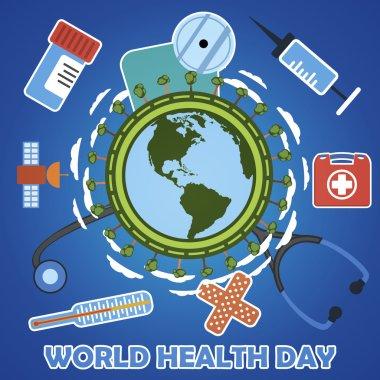 World health day concept. Vector