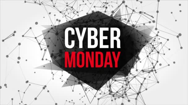 Cyber Monday Motion Banner with Dots and Lines