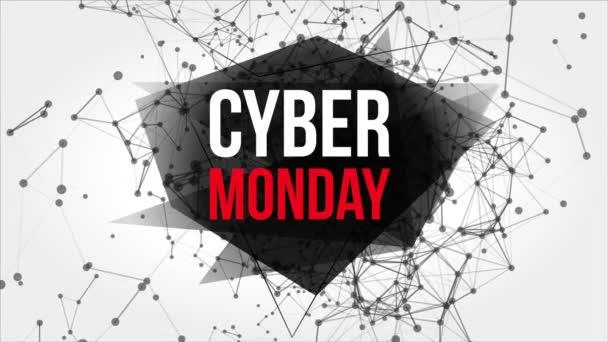 Cyber pondělí pohybu Banner s body a čáry