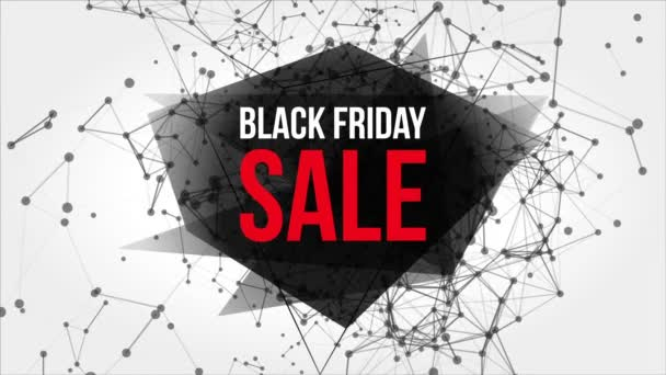 Black Friday Sale Motion Banner with Dots and Lines.