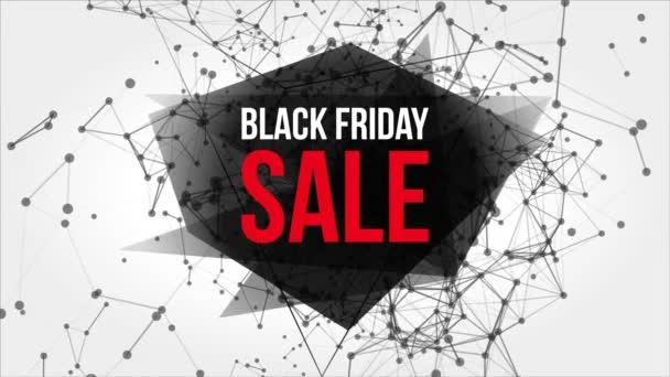 Černý pátek prodej pohybu Banner s body a čáry