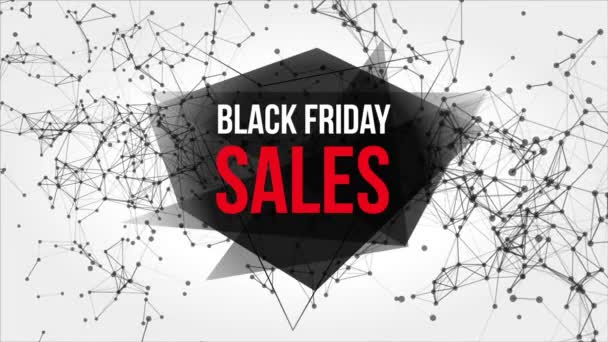 Black Friday Sales Motion Banner with Dots and Lines.