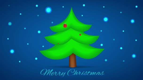 Vánoční strom. Pohybu Vánoce pozadí. Smyčka