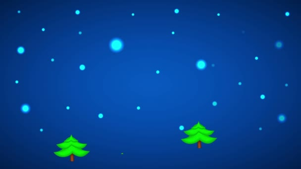 Forest in Xmas Eve. Motion Background.