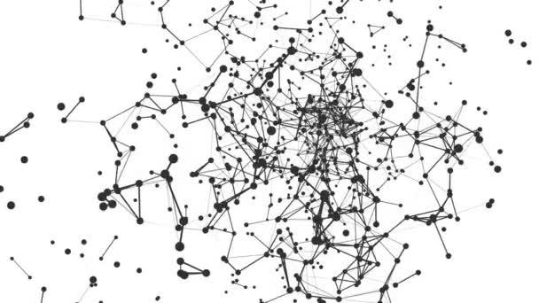 Stěhování pozadí abstraktní sítě. Bezešvá smyčka.