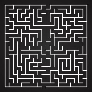 Vector Maze. Labyrinth with Entry and Exit.