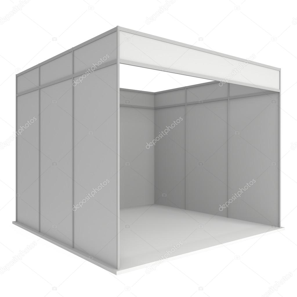Exhibition Booth Blank : Abstract exhibition booth blank wall lighting stock illustration