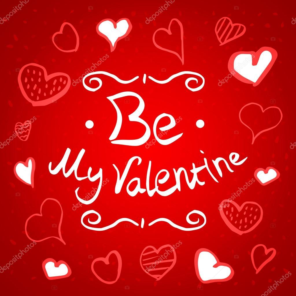 werden Sie meine Valentinstag-Grußkarte — Stockvektor © newb1 #98138222