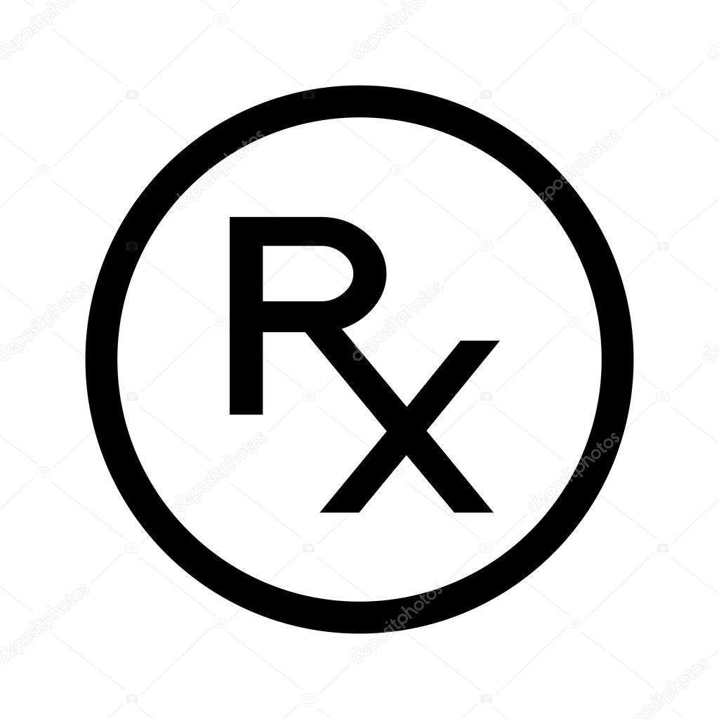 Simple Rx Icon Symbol Of Prescription Stock Vector