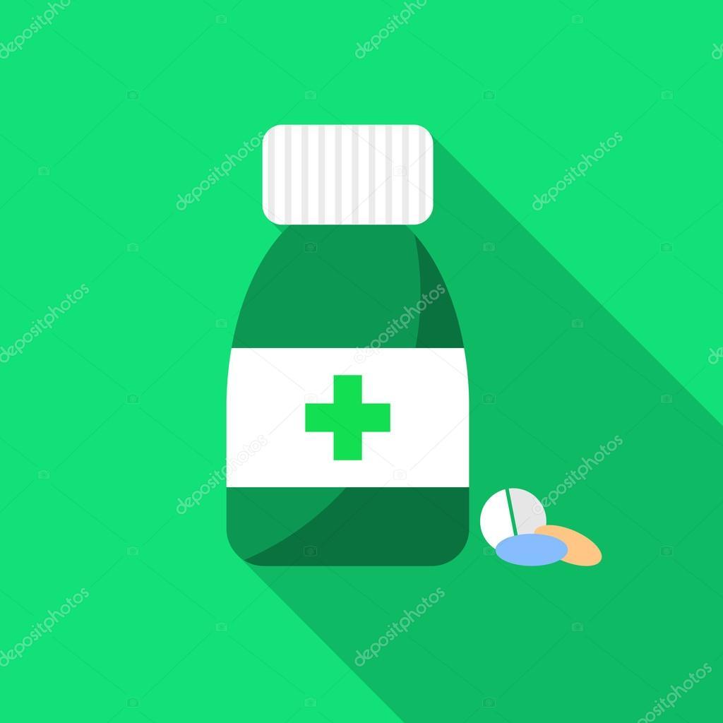 pharmacy design pill bottle with capsules and pill pill bottle