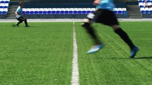SOCCER: Hot fight for a ball in a center of field