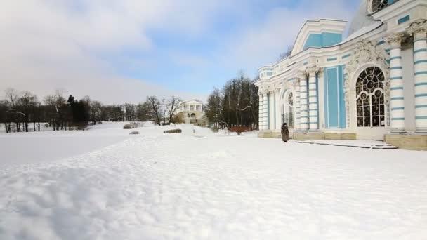 panorama di pavilion grotta di pushkin città, San Pietroburgo, russia