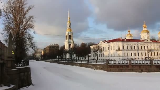 Panoramic of Nikolsky Cathedral, St.Petersburg, Russia
