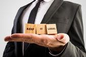 Fotografie Udržet právní zpívat na tři dřevěné kostky