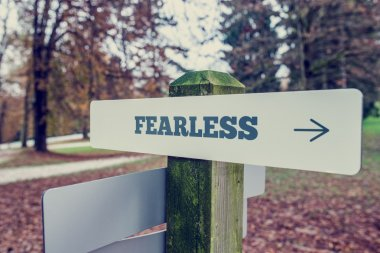 Sign Post Showing Direction to Fearlessness