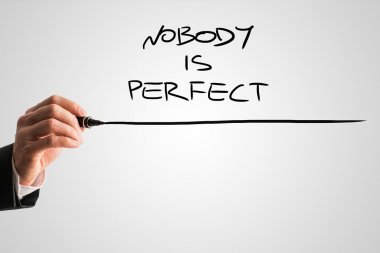 Handwritten Nobody is Perfect with Underline
