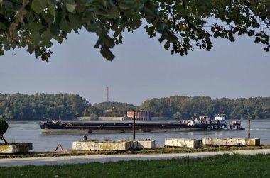 Riverside park in Ruse town along river Danube