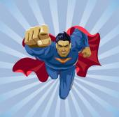 Fotografie flying superhero