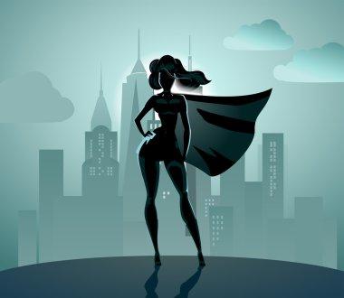 Super Heroine silhouette