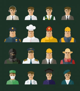People icon ,professions icons, Occupation set