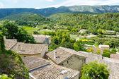 Fotografie Zobrazit na Provence vesnice střechy a krajinu
