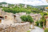Zobrazit na Provence vesnice střechy a krajinu.