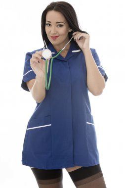 Sexy Young Pin Up Model Wearing A Nurses Uniform In Pin Up Glamo