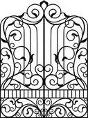 Kované železné brány, dveře, plot