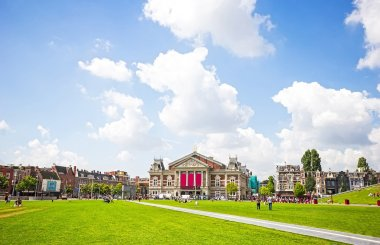 Medieval building 'Concertgebouw' at the Museumplein in Amsterda